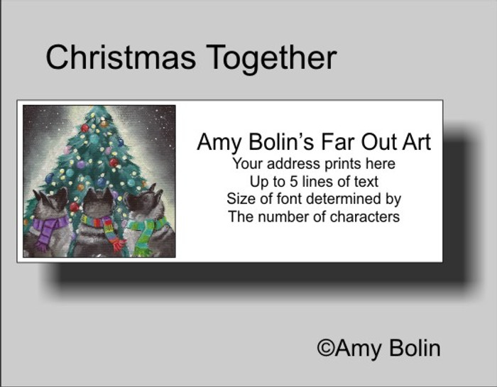 ADDRESS LABELS · CHRISTMAS TOGETHER · NORWEGIAN ELKHOUND · AMY BOLIN