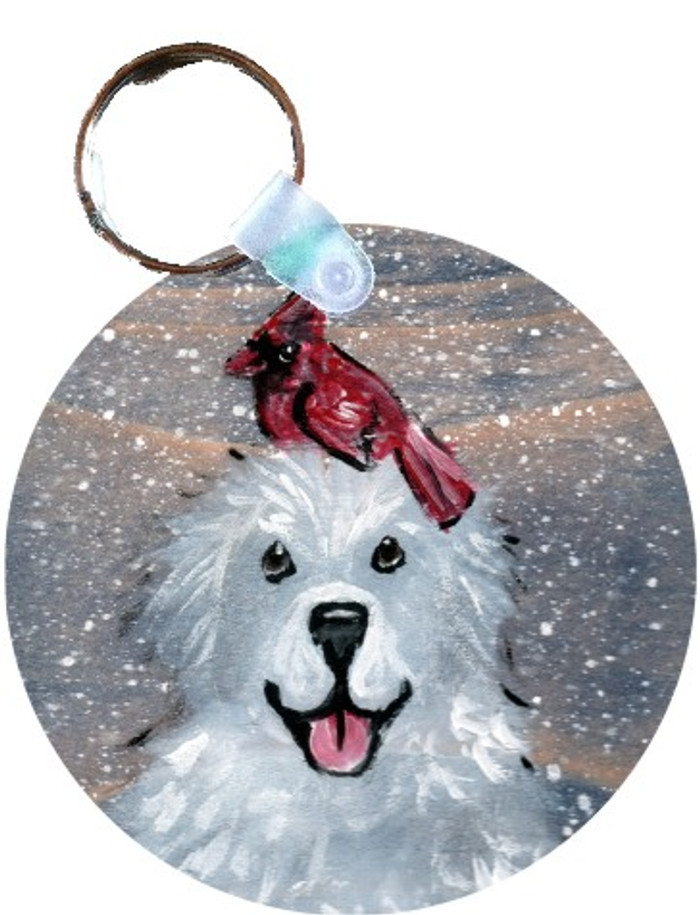 KEY CHAIN · WINTER BUDDIES · GREAT PYRENEES & CARDINAL · AMY BOLIN