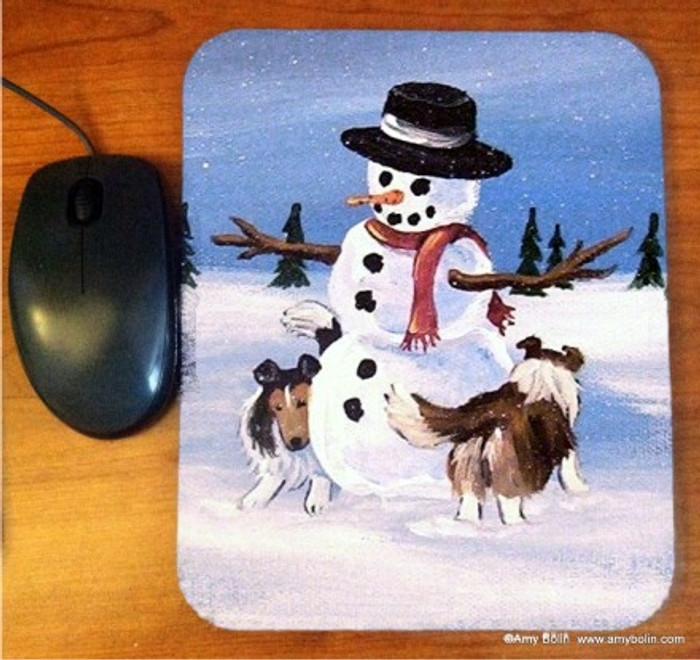 MOUSE PAD · WHICH WAY DID HE GO · SABLE SHELTIE · AMY BOLIN