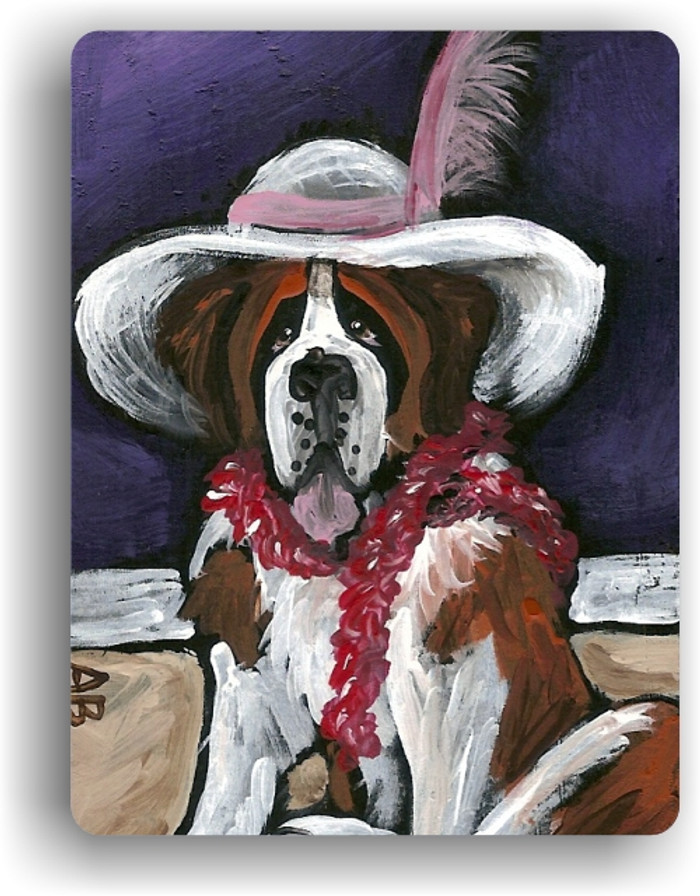 MAGNET · ALL DRESSED UP WITH NOWHERE TO GO · SAINT BERNARD · AMY BOLIN