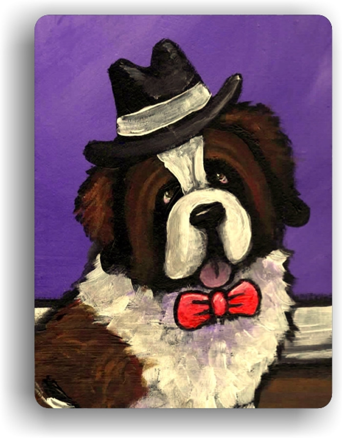MAGNET · DAPPER DOG · SAINT BERNARD · AMY BOLIN