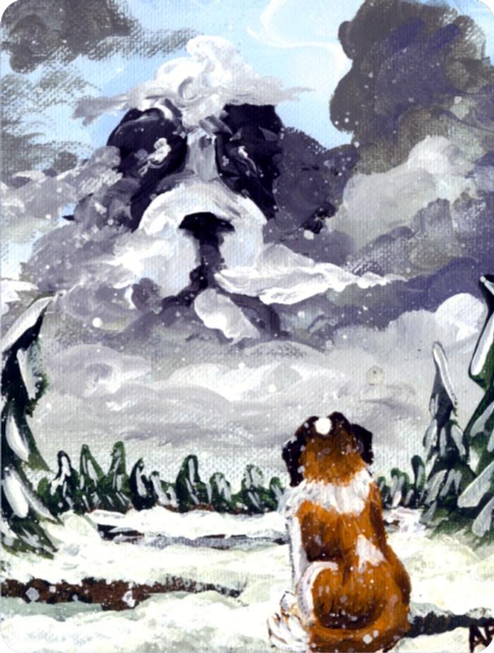 MAGNET · FIRST SNOW · SAINT BERNARD · AMY BOLIN