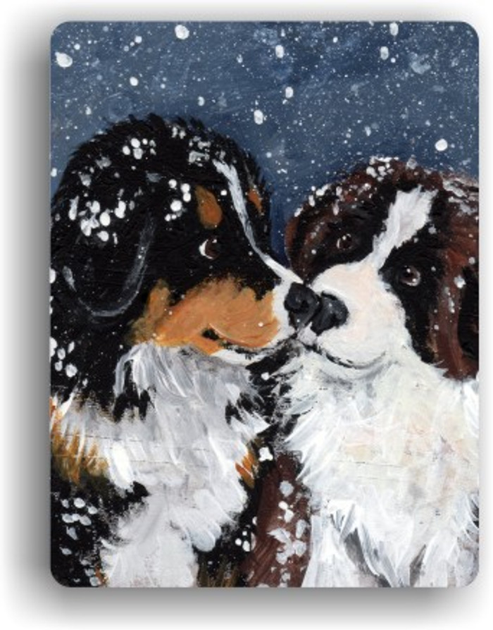 MAGNET · PUPPY KISSES · BERNESE MOUNTAIN DOG & SAINT BERNARD · AMY BOLIN