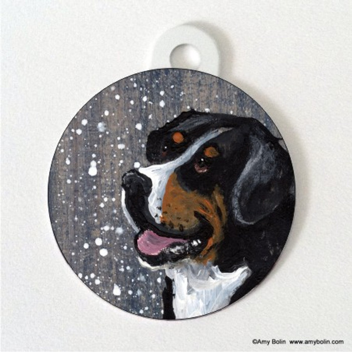DOUBLE SIDED PET ID TAG · SWISSY · GREATER SWISS MOUNTAIN DOG · AMY BOLIN