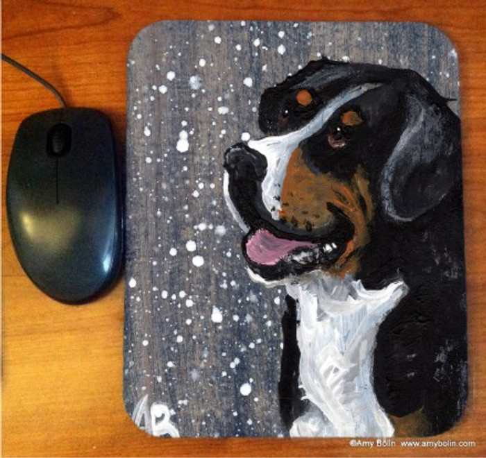 MOUSE PAD · SWISSY · GREATER SWISS MOUNTAIN DOG · AMY BOLIN