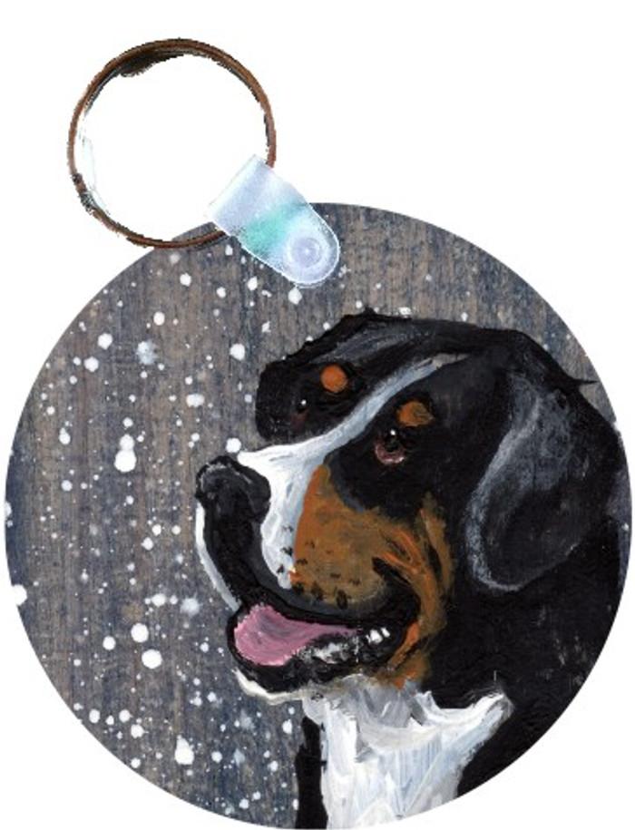 KEY CHAIN · SWISSY · GREATER SWISS MOUNTAIN DOG · AMY BOLIN