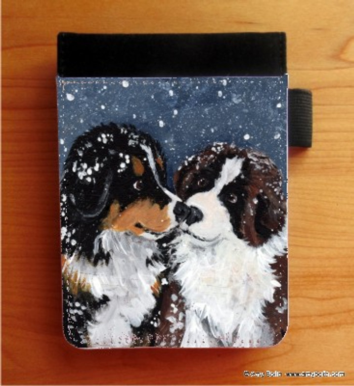 NOTEBOOKS (SEVERAL SIZES AVAILABLE) · PUPPY KISSES · BERNESE MOUNTAIN DOG & SAINT BERNARD · AMY BOLIN