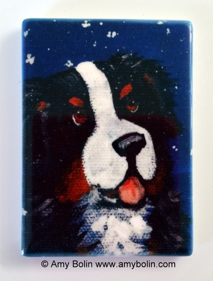 MAGNET · COUNTING SNOWFLAKES · BERNESE MOUNTAIN DOG · AMY BOLIN
