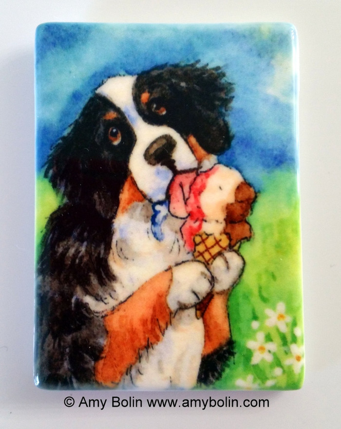 MAGNET · MAKE MINE NEAPOLITAN  · BERNESE MOUNTAIN DOG · AMY BOLIN