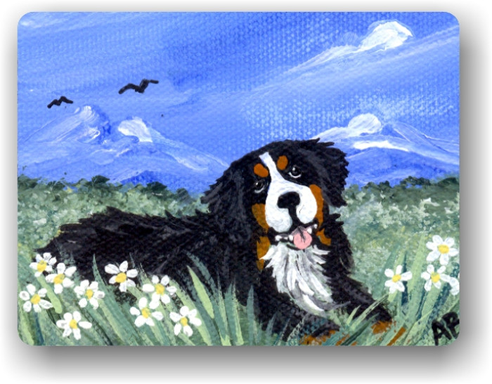 MAGNET · MOUNTAIN HOME  · BERNESE MOUNTAIN DOG · AMY BOLIN
