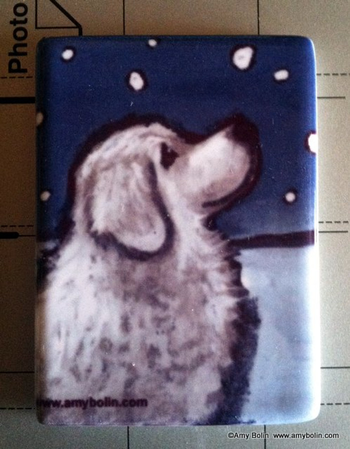 MAGNET · COUNTING SNOWFLAKES  · GREAT PYRENEES · AMY BOLIN