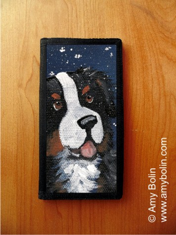 CHECKBOOK COVER · COUNTING SNOWFLAKES · BERNESE MOUNTAIN DOG · AMY BOLIN
