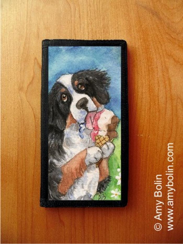 CHECKBOOK COVER · MAKE MINE NEAPOLITAN · BERNESE MOUNTAIN DOG · AMY BOLIN
