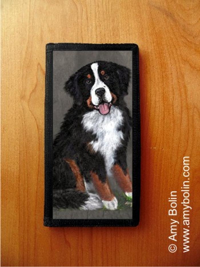 CHECKBOOK COVER · MERLIN · BERNESE MOUNTAIN DOG · AMY BOLIN