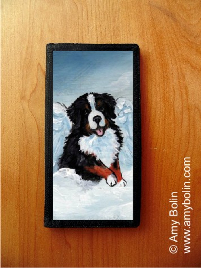 CHECKBOOK COVER · MY SWEET ANGEL · BERNESE MOUNTAIN DOG · AMY BOLIN