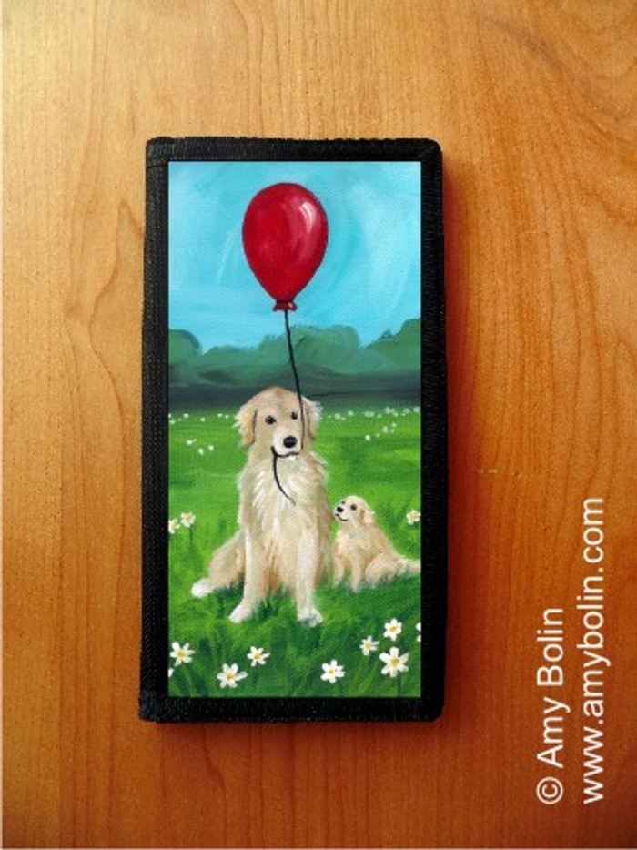CHECKBOOK COVER · A GOLDEN AFTERNOON · GOLDEN RETRIEVER · AMY BOLIN