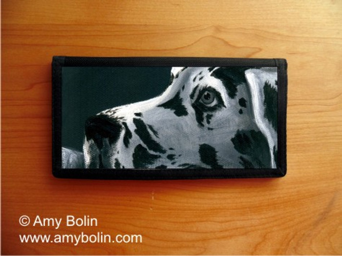 CHECKBOOK COVER · HARLEQUIN DANE · GREAT DANE · AMY BOLIN