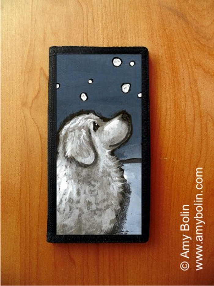 CHECKBOOK COVER · COUNTING SNOWFLAKES · GREAT PYRENEES · AMY BOLIN