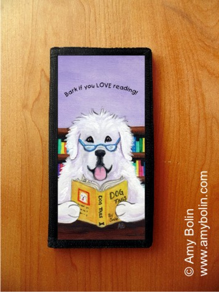CHECKBOOK COVER · DOG TAILS VOL 2 · GREAT PYRENEES · AMY BOLIN