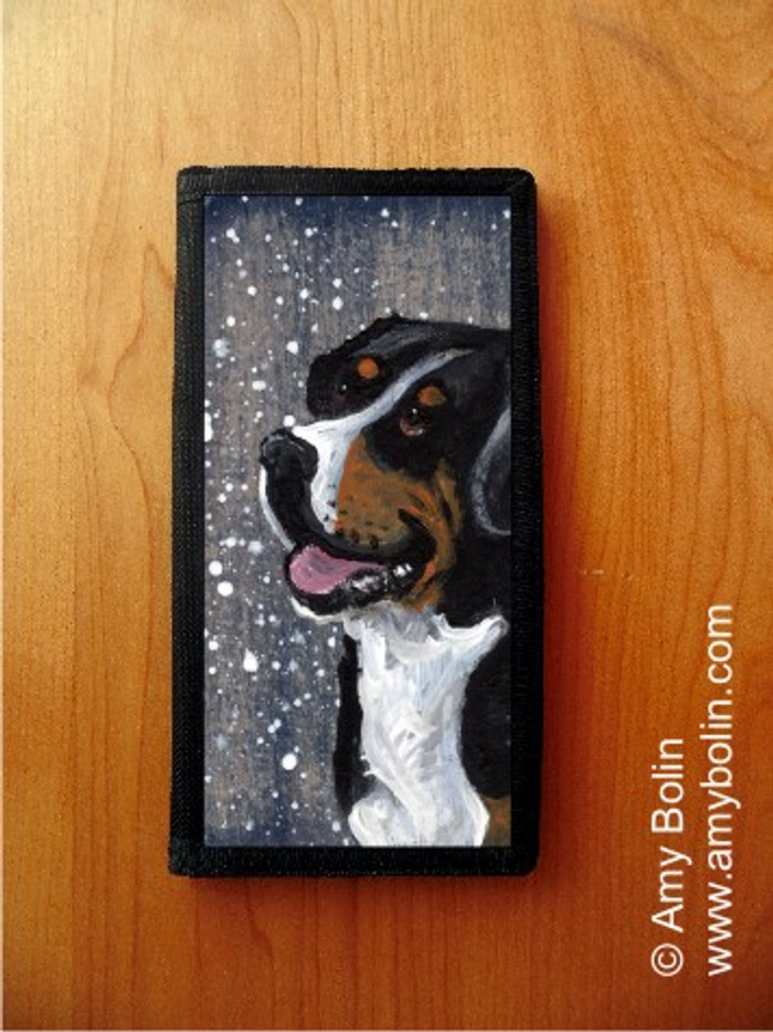CHECKBOOK COVER · SWISSY · GREATER SWISS MOUNTAIN DOG · AMY BOLIN