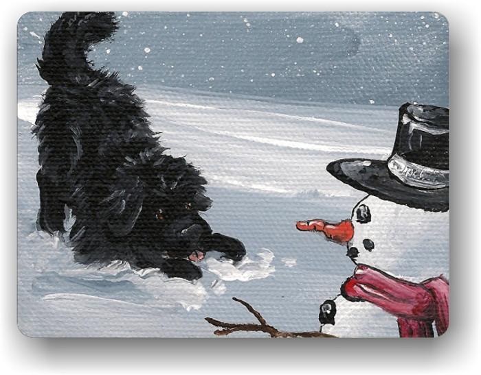 MAGNET · MY SNOWY FRIEND · BLACK  NEWFOUNDLAND · AMY BOLIN