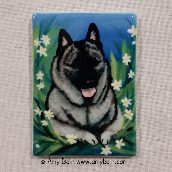 MAGNET · DAISIES 1 · NORWEGIAN ELKHOUND · AMY BOLIN