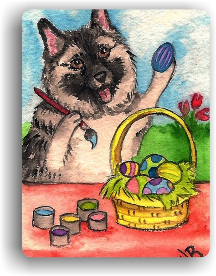 MAGNET · EASTER EGG ARTIST · NORWEGIAN ELKHOUND · AMY BOLIN