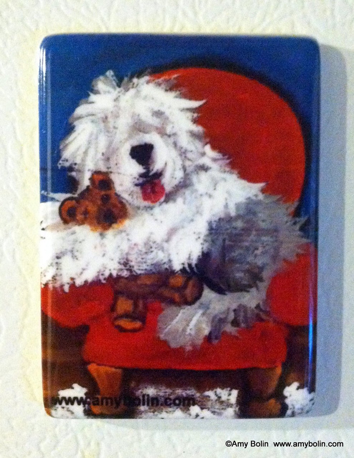 MAGNET · JUST ME & TED · OLD ENGLISH SHEEPDOG  · AMY BOLIN
