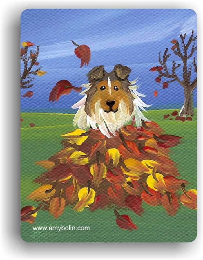 MAGNET · AUTUMN'S SIMPLE PLEASURES · SABLE  SHELTIE · AMY BOLIN