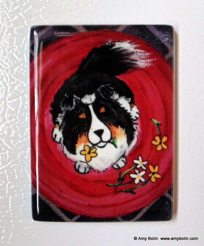 MAGNET · BE MINE · TRI COLOR SHELTIE · AMY BOLIN
