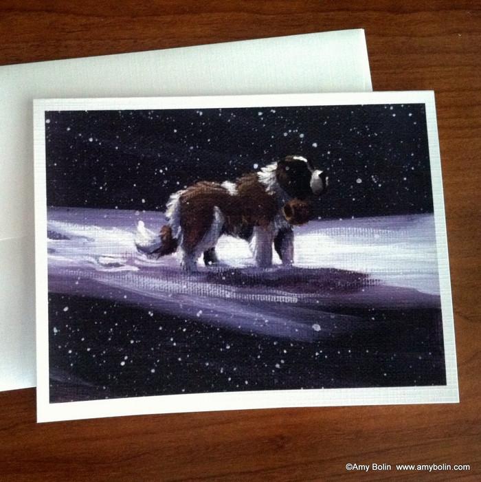 """A Ray Of Hope"" Saint Bernard Note Cards"