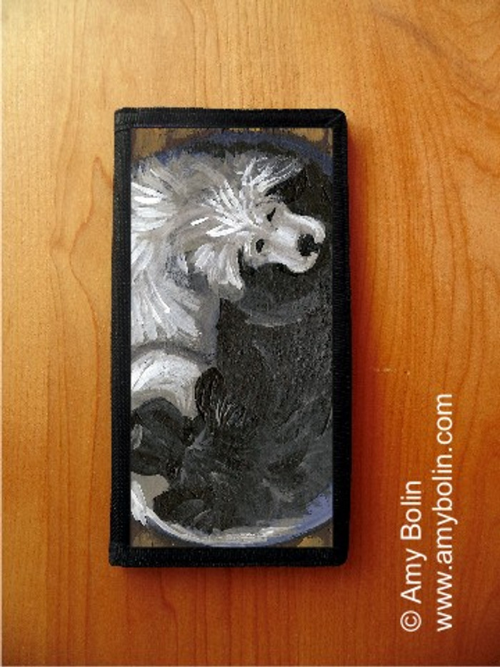 CHECKBOOK COVER · YIN YANG · GREAT PYRENEES, NEWFOUNDLAND · AMY BOLIN