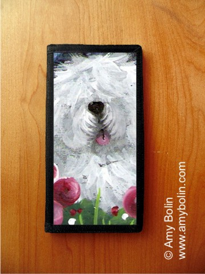 CHECKBOOK COVER · MOM'S FAVORITE FLOWER · OLD ENGLISH SHEEPDOG · AMY BOLIN