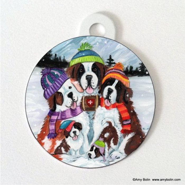 DOUBLE SIDED PET ID TAG · GENERATIONS · SAINT BERNARD · AMY BOLIN