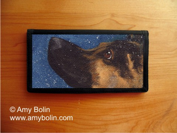 CHECKBOOK COVER · WISH UPON A SNOWFLAKE · GERMAN SHEPHERD · AMY BOLIN