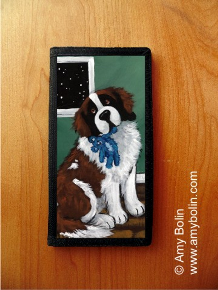 CHECKBOOK COVER · BEDTIME BUDDIES · SAINT BERNARD · AMY BOLIN