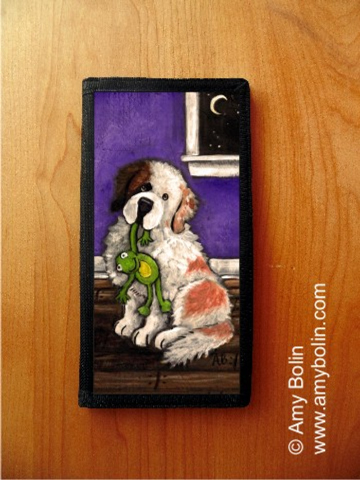 CHECKBOOK COVER · BEDTIME BUDDIES HALF MASK · SAINT BERNARD · AMY BOLIN