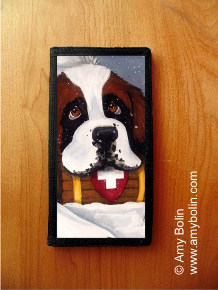 CHECKBOOK COVER · BREAK TIME · SAINT BERNARD · AMY BOLIN
