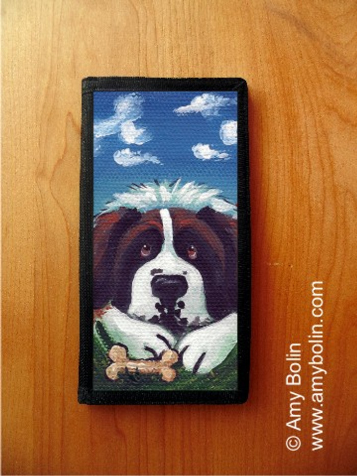 CHECKBOOK COVER · DOGGY DAYDREAMS · SAINT BERNARD · AMY BOLIN