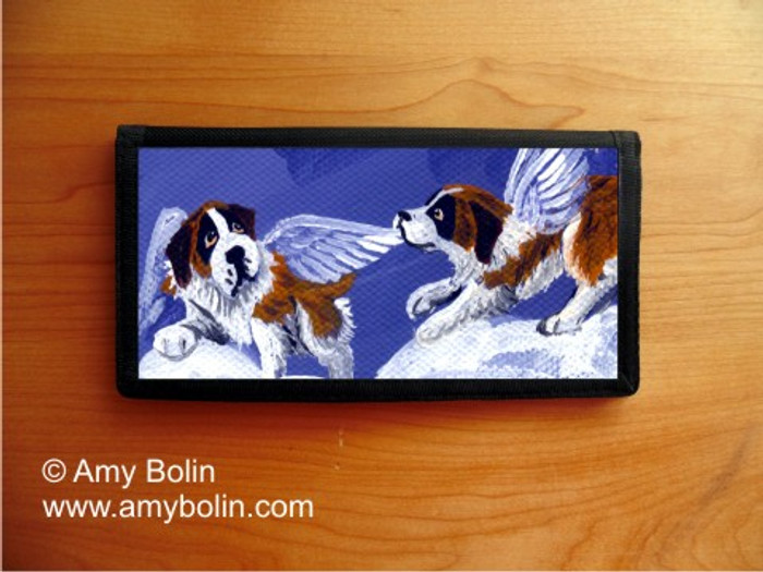 CHECKBOOK COVER · LITTLE ANGELS · SAINT BERNARD · AMY BOLIN