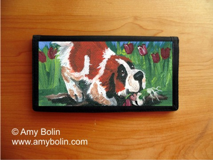 CHECKBOOK COVER · LITTLE GARDENER · SAINT BERNARD · AMY BOLIN