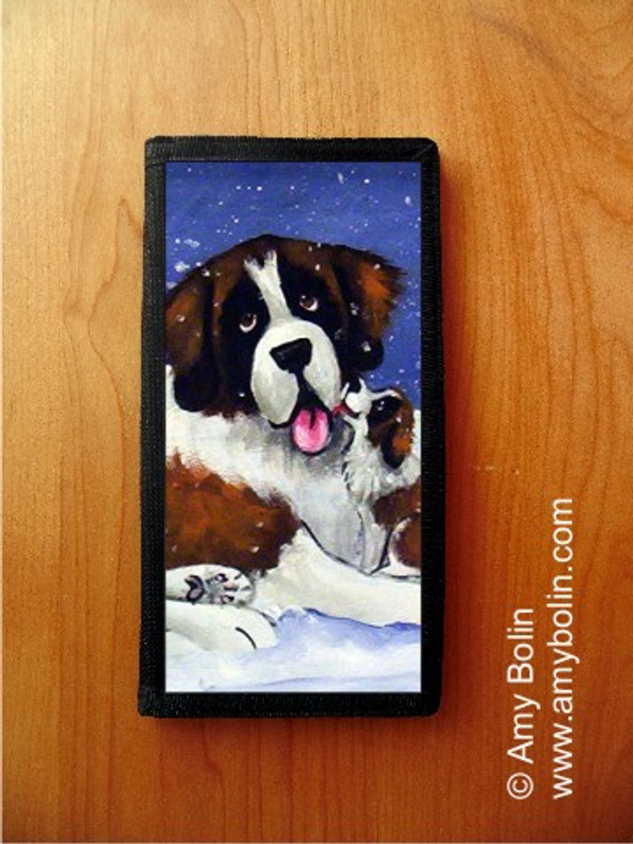 CHECKBOOK COVER · LITTLE KISS 3 · SAINT BERNARD · AMY BOLIN