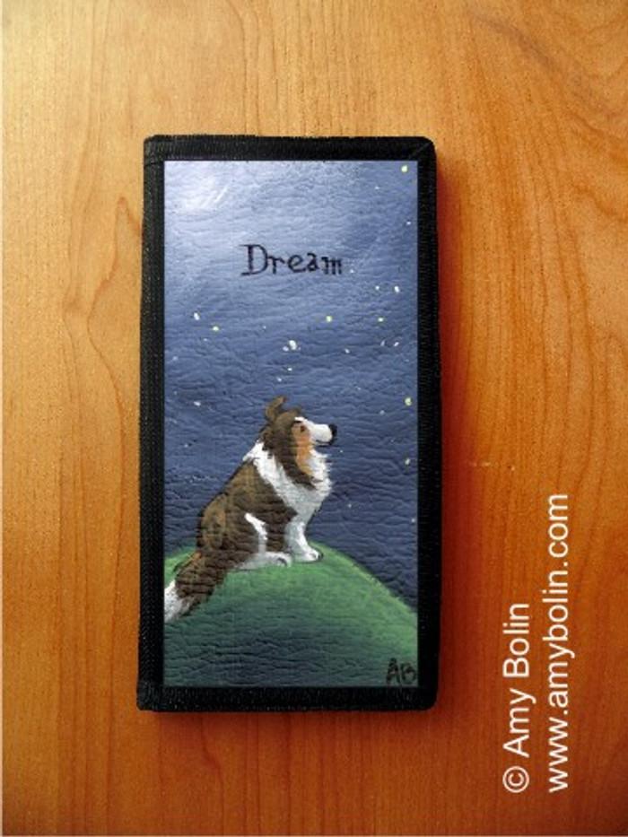 CHECKBOOK COVER · DREAM · SABLE SHELTIE · AMY BOLIN