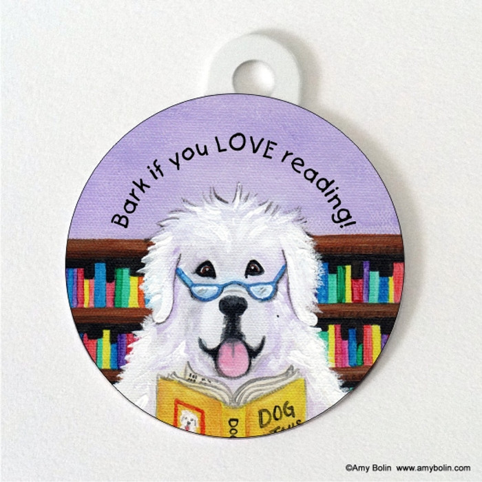 DOUBLE SIDED PET ID TAG · DOG TAILS VOL 2 · GREAT PYRENEES · AMY BOLIN