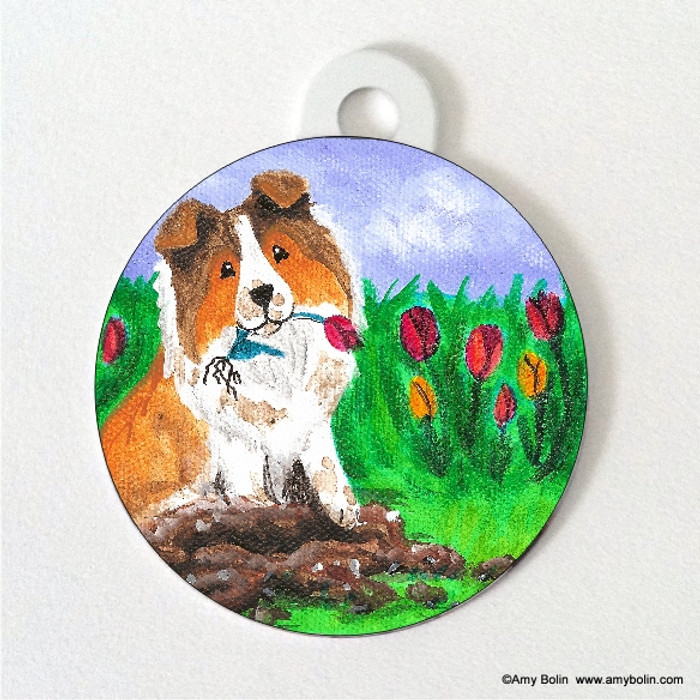 DOUBLE SIDED PET ID TAG · LITTLE GARDENER · SABLE · AMY BOLIN