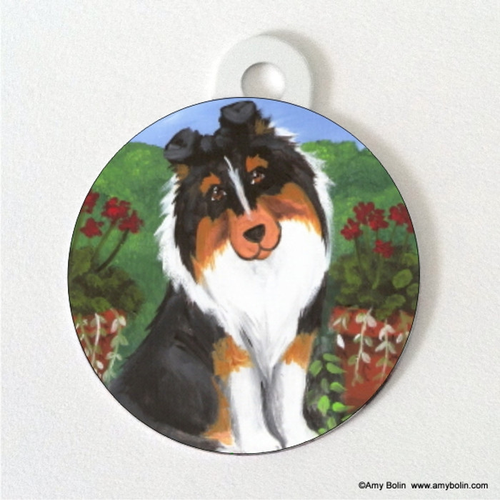 DOUBLE SIDED PET ID TAG · PRETTY AS A PICTURE · TRI COLOR · AMY BOLIN