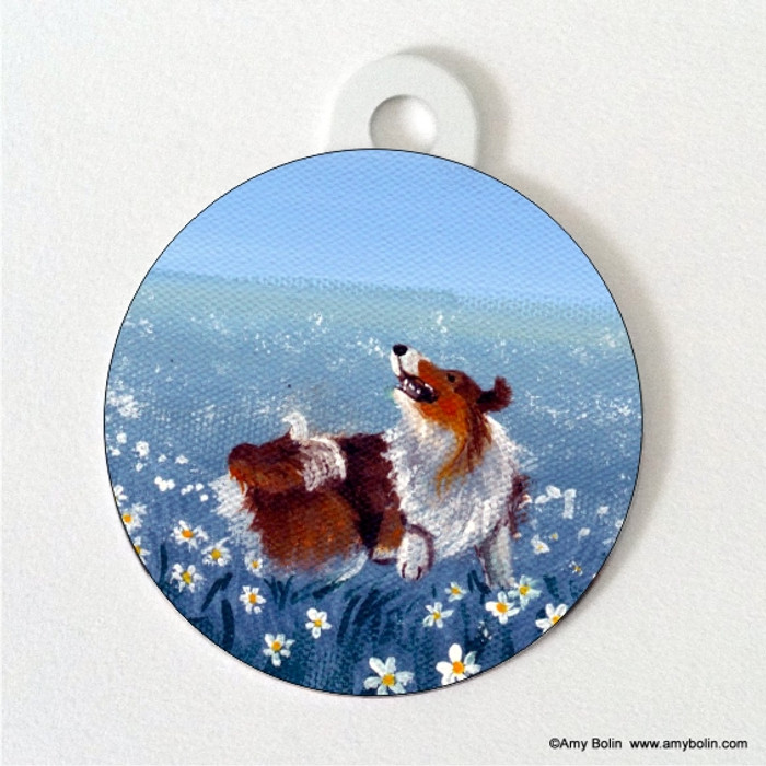 DOUBLE SIDED PET ID TAG · HAPPY DANCE · SABLE · AMY BOLIN