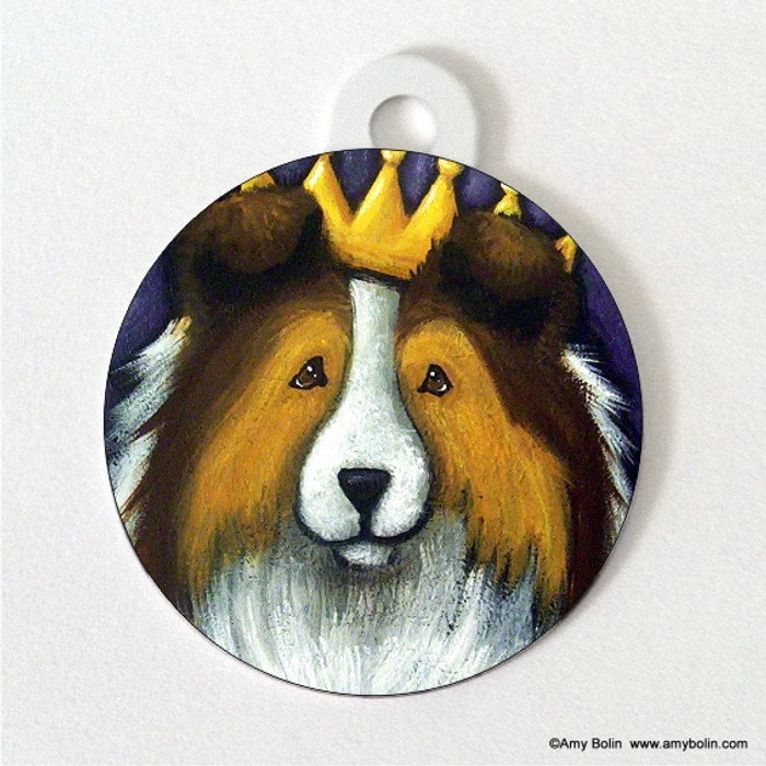 DOUBLE SIDED PET ID TAG · THE QUEEN · SABLE · AMY BOLIN