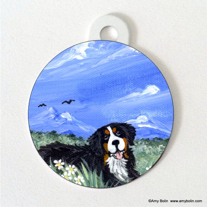 DOUBLE SIDED PET ID TAG · MOUNTAIN HOME · BERNESE MOUNTAIN DOG · AMY BOLIN