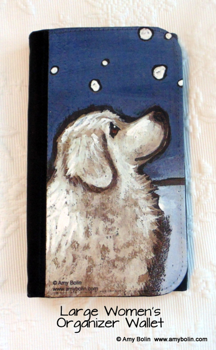 LARGE ORGANIZER WALLET · COUNTING SNOWFLAKES · GREAT PYRENEES · AMY BOLIN